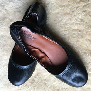 Lucky Brand Black Leather Erin Flats 8.5